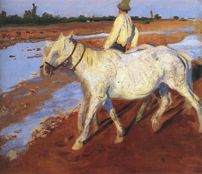 Horses, 1899 - Karoly Ferenczy