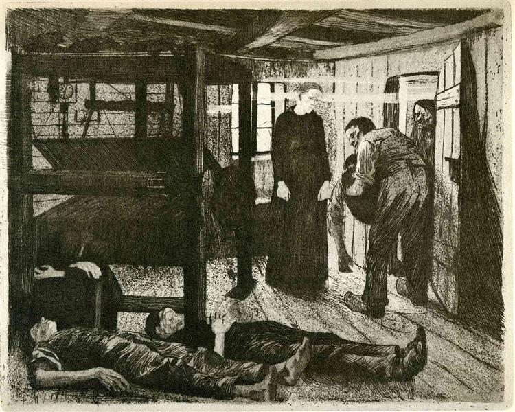 The End, 1897 - Käthe Kollwitz