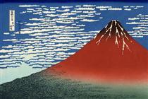 Fuji, montagne con tempo sereno (Fuji rosso) - Katsushika Hokusai