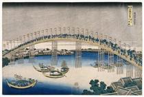 Il Festival delle Lanterne sul Ponte Temma - Katsushika Hokusai