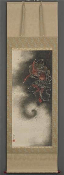 Dio del tuono, periodo Edo - Katsushika Hokusai