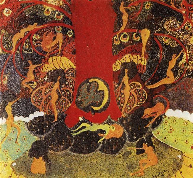 Oak and dryads - Kazimir Malevich