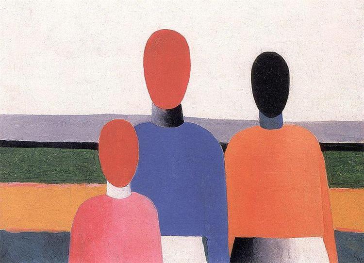Three Woman Figures - Malevich Kazimir