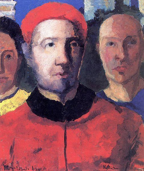Triple portrait - Kazimir Malevich - WikiArt.org ...