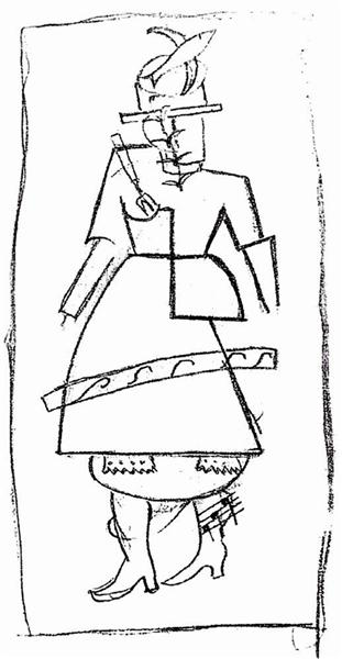 Woman, 1916 - Kazimir Malevich