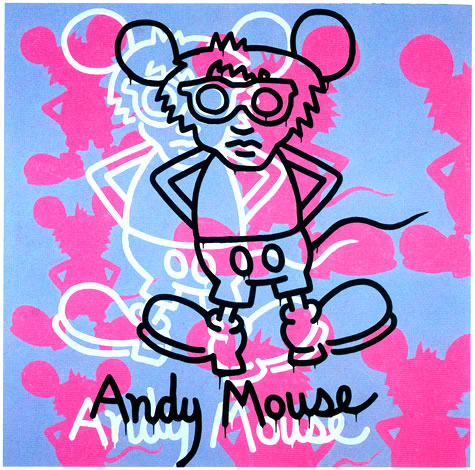Andy Mouse, 1985 - Keith Haring