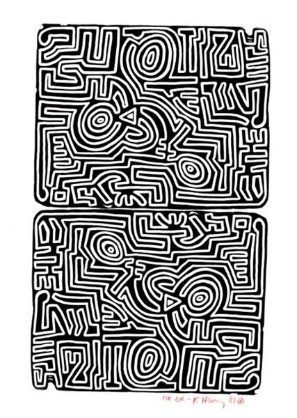 Labyrinth, 1989 - Keith Haring