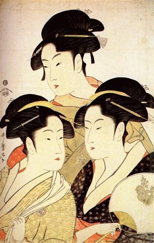 Kitagawa Utamaro, Three Beauties of the Present Day.