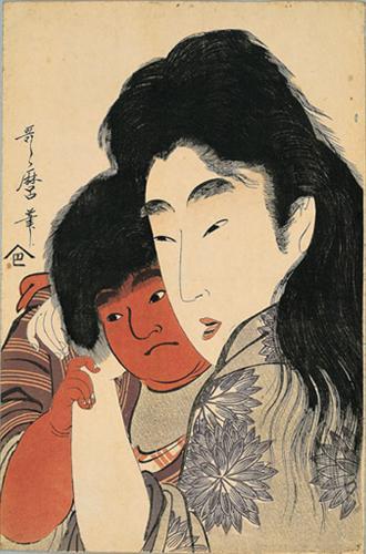Yama uba and Kintaro - Kitagawa Utamaro