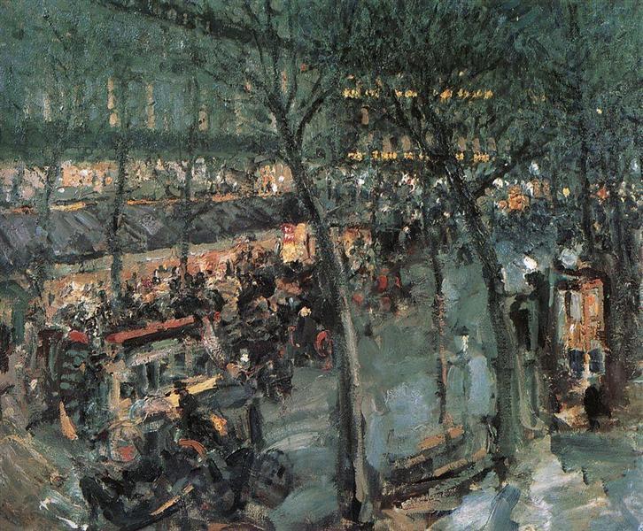 Paris.Cafe de la Paix, 1906 - Konstantín Korovin