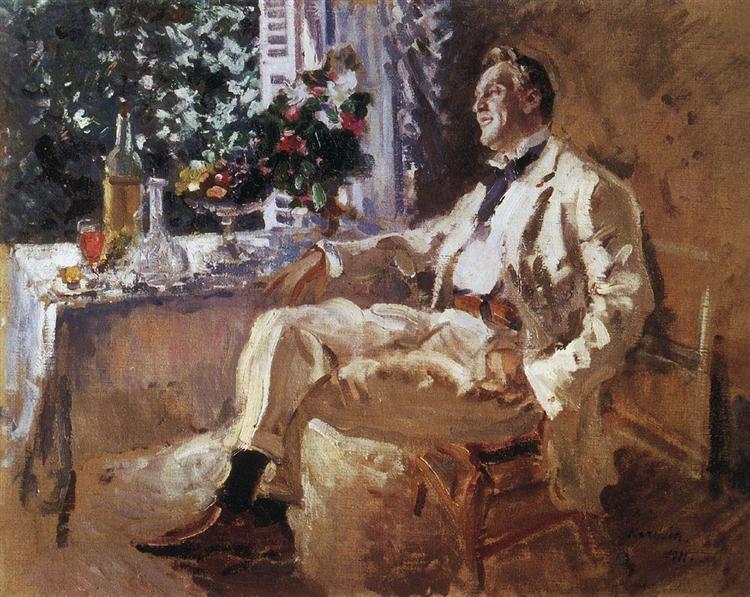 Portrait of Chaliapin - Konstantin Korovin