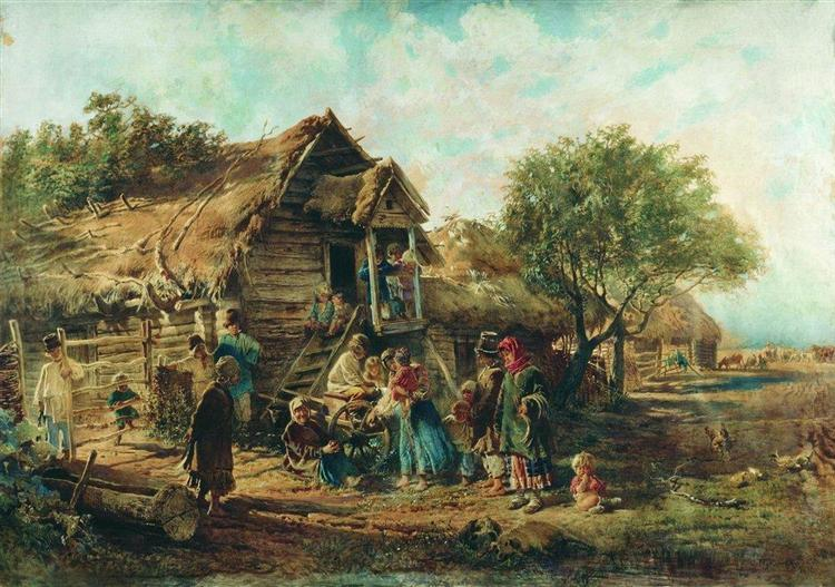 After the Market, 1876 - Konstantin Makovsky