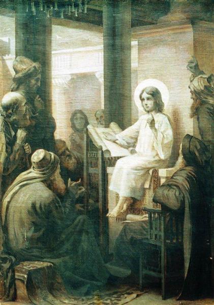 Christ among the teachers, c.1860 - Konstantin Makovsky