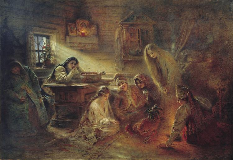 Christmas Fortune Telling - Constantin Makovski