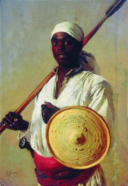 Egyptian Warrior, 1871 - Konstantin Makovsky
