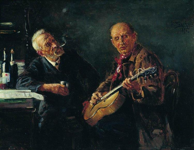 Friends, 1895 - Konstantin Makovsky