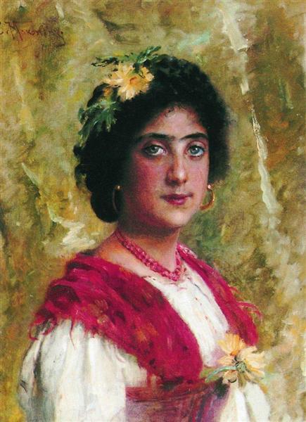 Gipsy, c.1880 - Konstantin Makovsky