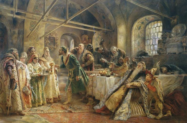 Kissing Ceremony - Konstantin Makovsky