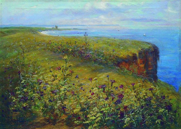 Landscape (Sea and Flowers), c.1890 - Constantin Makovski
