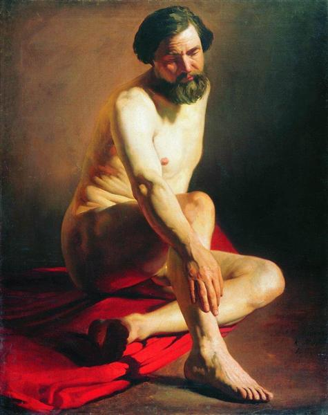 Model, 1858 - Konstantin Makovsky