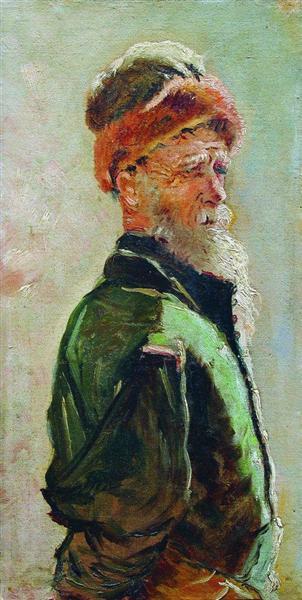 Old Man, c.1890 - Konstantin Makovsky
