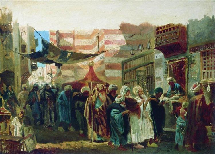Oriental Funeral in Cairo - Костянтин Маковський