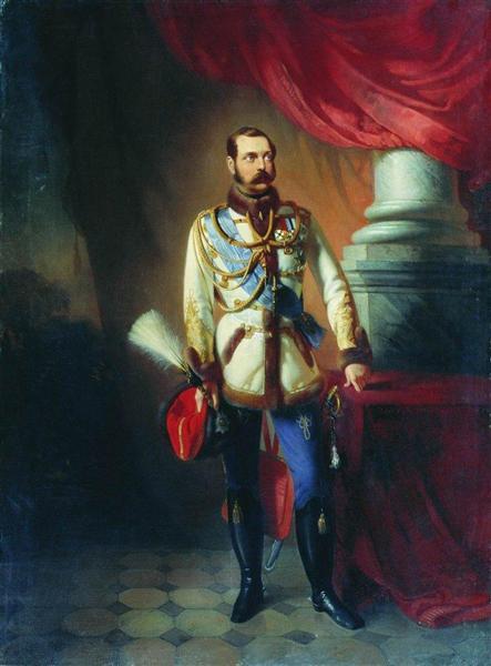 Portrait of Alexander II of Russia, c.1860 - Konstantin Makovsky