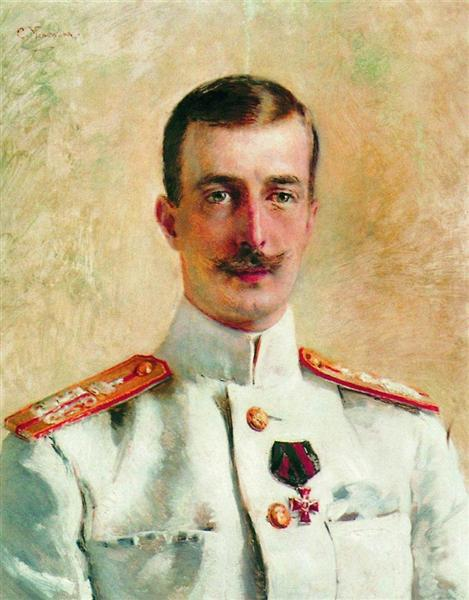 Portrait of Cyril Vladimirovich, Grand Duke of Russia, c.1880 - Konstantin Makovsky