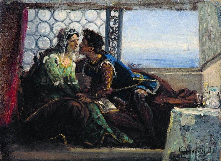 Romeo and Juliet, c.1890 - Konstantin Makovsky