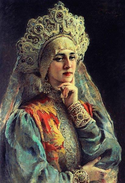 Russian Beauty, c.1900 - Konstantin Makovsky