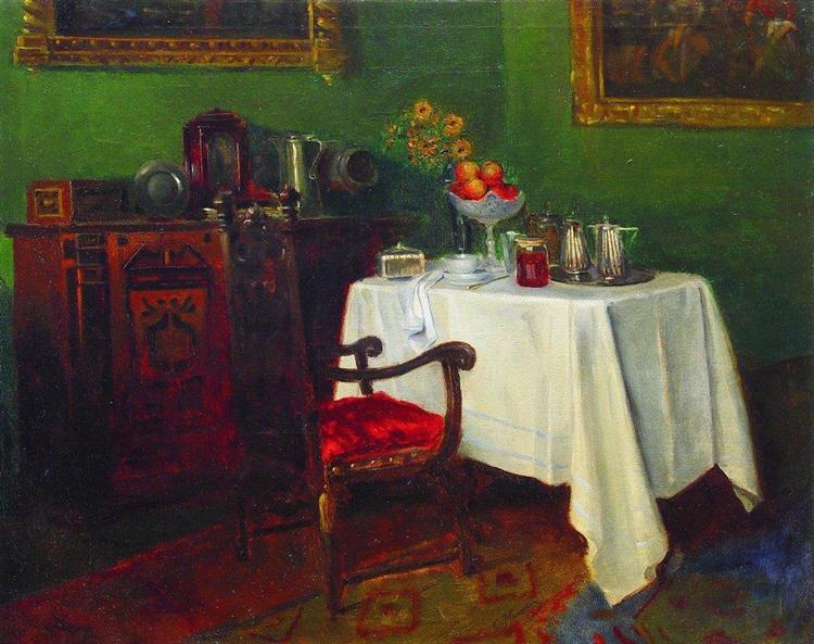 Still Life in an Interior, 1880 - c.1900 - Konstantin Makovsky