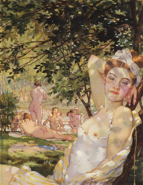 Bathings in the Sun, 1930 - Konstantín Sómov