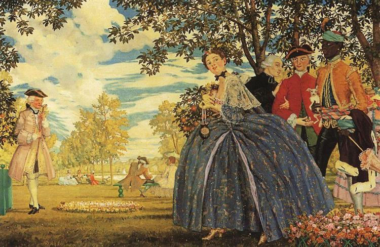 Figures in the Park, 1919 - Konstantin Andrejewitsch Somow