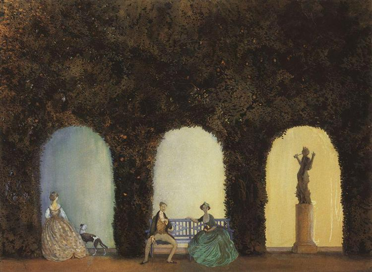 In the Bosquet, 1898 - 1899 - Konstantin Somov