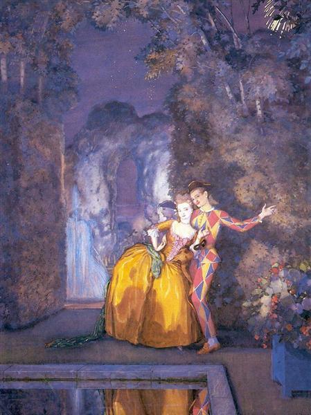 Lady and Harlequin (Fireworks ), 1912 - Konstantin Somov