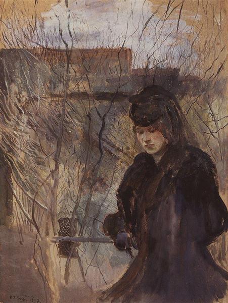 Lady with a Spring Landscape, 1897 - Konstantin Somov