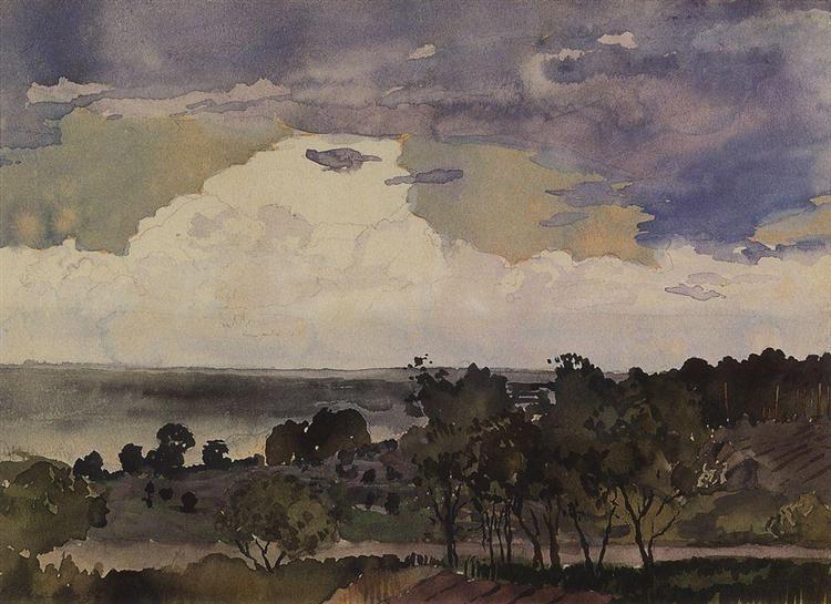 Landscape with Lake, 1896 - Konstantin Andrejewitsch Somow