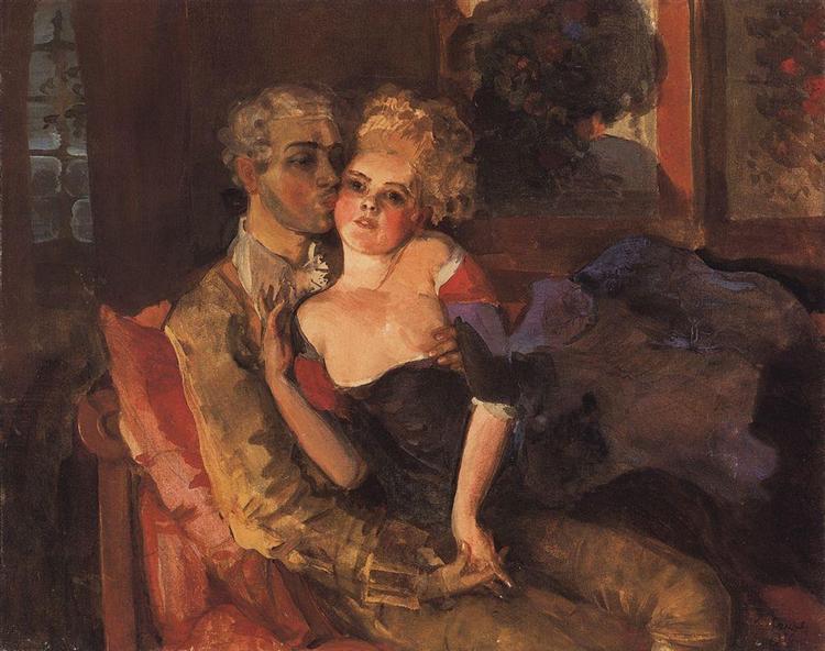 Lovers. Evening, 1910 - Konstantin Somov
