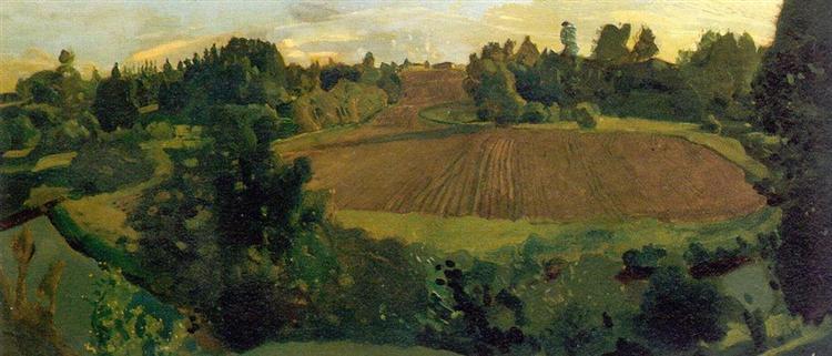 Ploughland, 1900 - Konstantin Somov