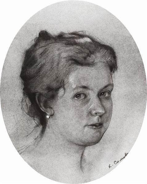 Portrait A. Somova-Mikhailova, 1897 - Konstantin Somov