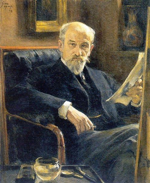 Osip Braz (author). Portrait of A. Sokolov, 1898 - Konstantin Somov