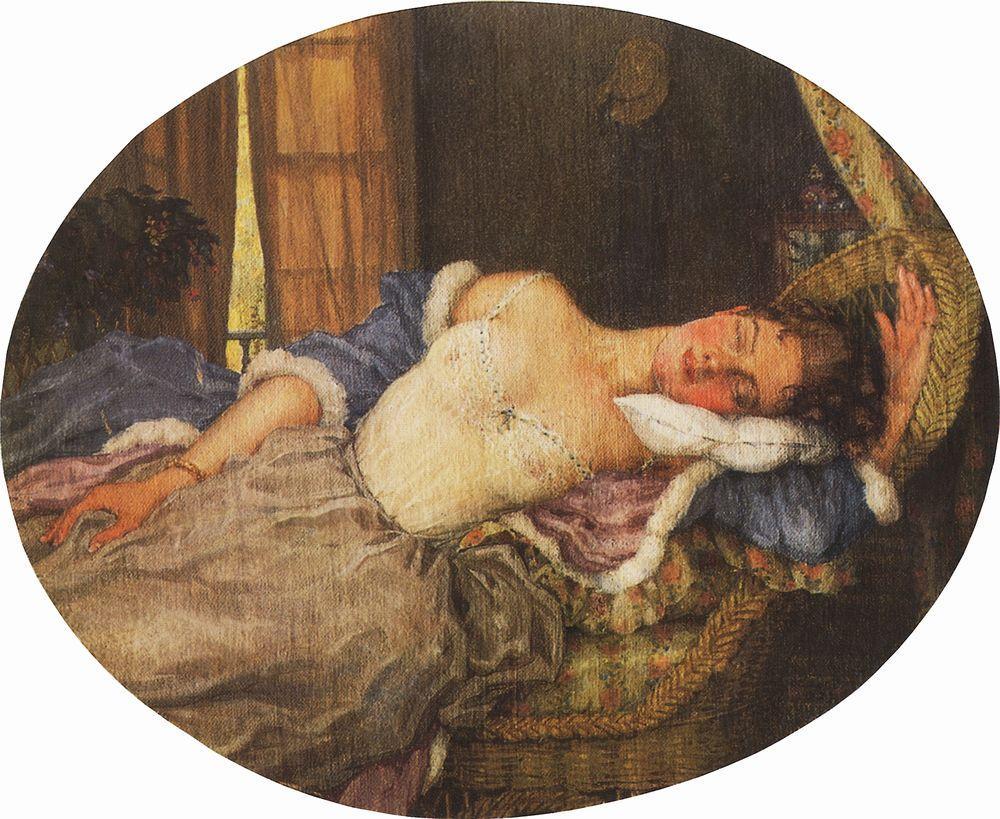Спящая молодая девушка 2 фотография