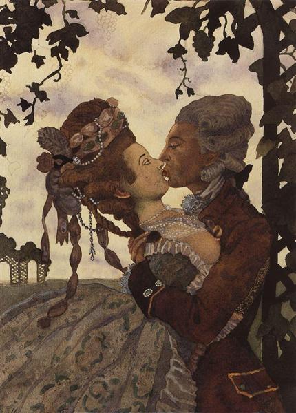 The Kiss, 1914 - Konstantin Somov