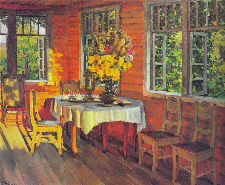 August Evening. Last Ray. Ligachevo, 1948 - Konstantin Yuon