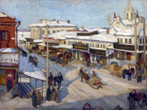 Nizhny Novgorod in Winter, 1909 - Konstantin Yuon