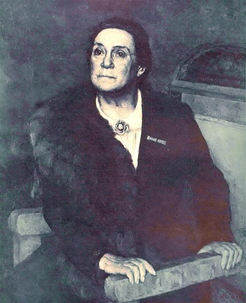 Portrait of actress V.N. Pashenina, 1945 - Konstantin Yuon
