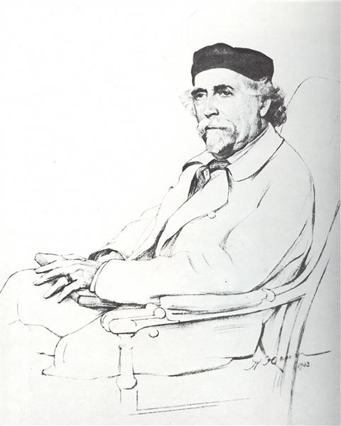 Portrait of N.D. Zelinsky, 1923 - Konstantin Yuon