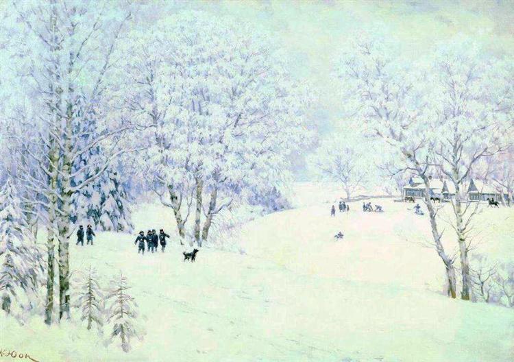 Russian Winter. Ligachevo, 1947 - Konstantin Yuon