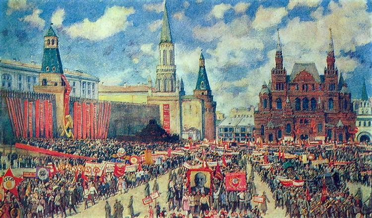 The 1st May Demonstration on The Red Square at 1929, 1930 - Konstantin Yuon