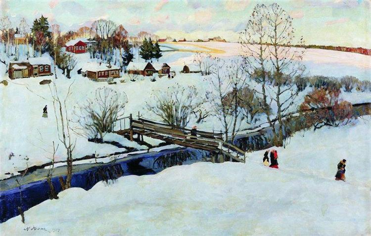 The Winter. Little Bridge, 1914 - Konstantin Yuon